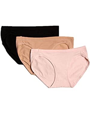 Hanes ComfortSoft Cotton Stretch Bikini Panty - 3 Pack (ET42)