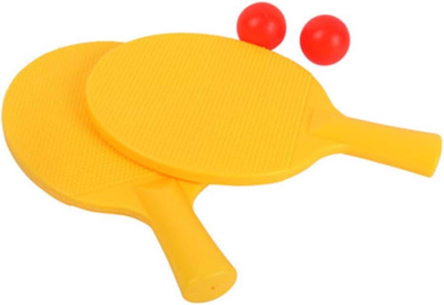 TOYANDONA Niños Ping Pong Paletas Juego de Bolas de Raqueta de Tenis de Mesa Juego de Deportes para Principiantes para Niños Niños (Amarillo)