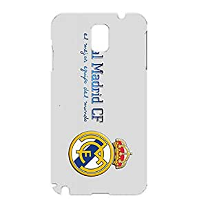 Official Real Madrid Phone Case 3D Plastic Pattern Vivid Durable Accessories for Samsung Galaxy Note 3 N9005 with Real Madrid Logo