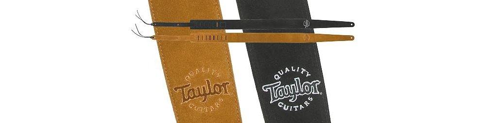 7b288009 Amazon.com: Taylor Guitars Black Suede Logo Guitar Strap: Musical  Instruments