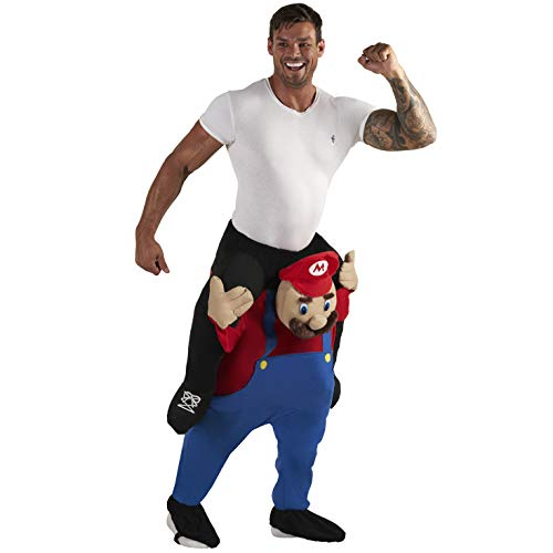 Make Your Own Male Halloween Costume (Morph Unisex Piggy Back Red Plumber Piggyback Costume - With Stuff Your Own)