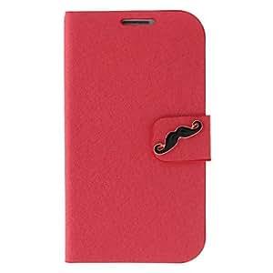 CECT STOCK Seda de impresión y barbas Pintura Patrón Rhinestone bolsas protectoras para Samsung Galaxy S3 I9300 , Rojo