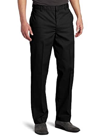 Dickies Men's Flat Front Pant, Black, 28X30