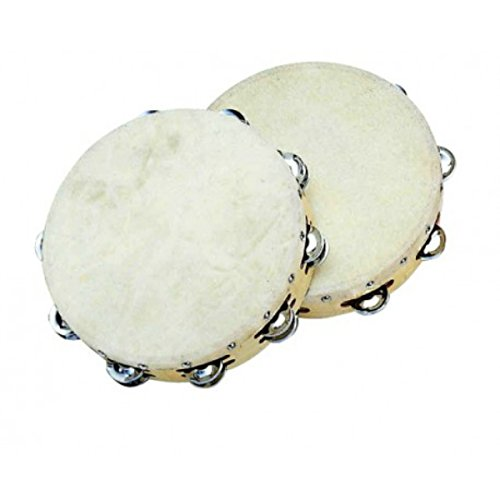 Peace Rh-2-0706 7-Inch Maple Tambourine with Natural Skin ()