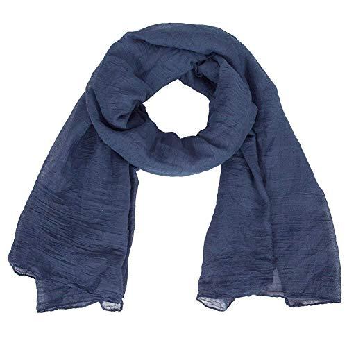 Accessoire Long Pashmina Femme Écharpe Chèche Top Bleu Châle 100cm Tendance Étole X Foulard Marine Couleurs 60 198 qRwxqrz1