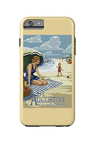 St. Augustine, Florida - Woman on the Beach (iPhone 6 Plus Cell Phone Case Cell Phone Case, - Augustine Women On