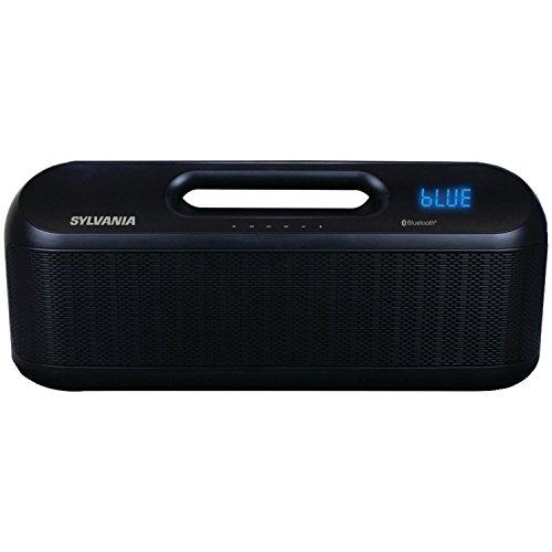 Sylvania SP399 Portable Bluetooth Speaker with FM Radio (Black) (Certified Refurbished)
