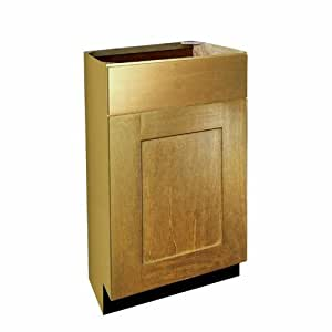 Shaker Panel Door Style Vanity Base With 1 Drawer 18 Wide 18 Deep 34 5 High In A Maple