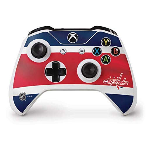 (Skinit Washington Capitals Jersey Xbox One S Controller Skin - Officially Licensed NHL Gaming Decal - Ultra Thin, Lightweight Vinyl Decal Protection)