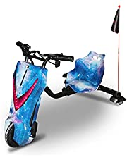 48V Electric Drifting Trike Scooter Super Power Scooter 360 Degree Drift Car High Speed & Bluetooth & Adjustable 3 Wheel Outside, with Key Start, Ride On Toy Outdoor Toys