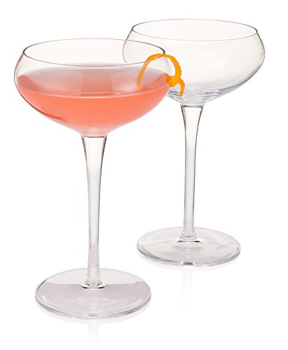 (Modern Bartender's Best Stemmed Coupe for Cocktails (Gift Box Set of 2))