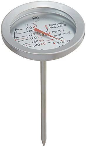 Escali AH1 NSF Certified ProAccurate Oven Safe Meat Thermometer, Extra Large Dial, Silver