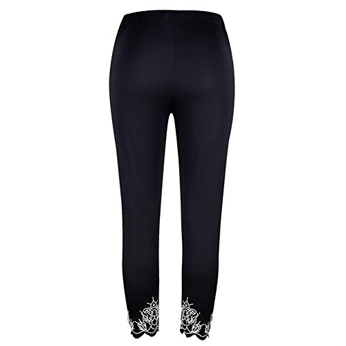 De Élégant Sport Slim Unie Base Vêtements Leggings D'été Bund Femmes Noir Mode Fit Élastisch Pantalon Couleur YTn5Aqx
