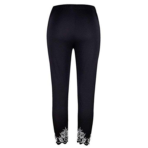 Pantalone Pantaloni Slim Estivi Fit Ragazze Tuta Elastica Elegante Cintura Donna Moda Monocromo Leggins Giovane Pants Nero E8xqwYOCn