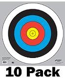 60 cm / 24 in Bullseye Archery and Gun Targets by Longbow Targets (4, 10, 25, & 100 Packs)