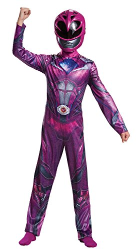Power Ranger Movie Classic Costume, Pink, Small (4-6X) (Girl Power Ranger Costume)