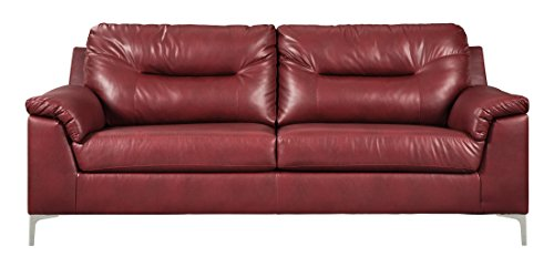 (Ashley Furniture Signature Design - Tensas Contemporary Upholstered Sofa - Crimson Red)