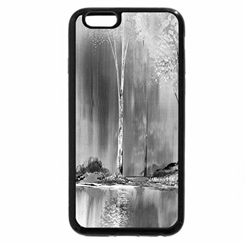 iPhone 6S Plus Case, iPhone 6 Plus Case (Black & White) - autumn wood
