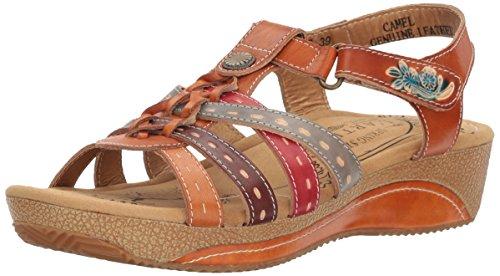 Step Camel Cloe by Artiste Women's Spring Sandal L tWBvFx4q04