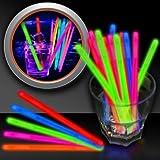 "Pink Glow Swizzle Sticks - 5"" - 50 Pack"