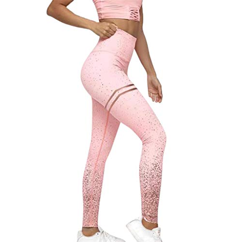 Women Dots Leggings Fitness Sports Gym Running Yoga Athletic Pants Pink (Vs Yoga Pants Xs)
