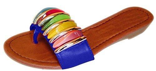 multi colored sandals - 9