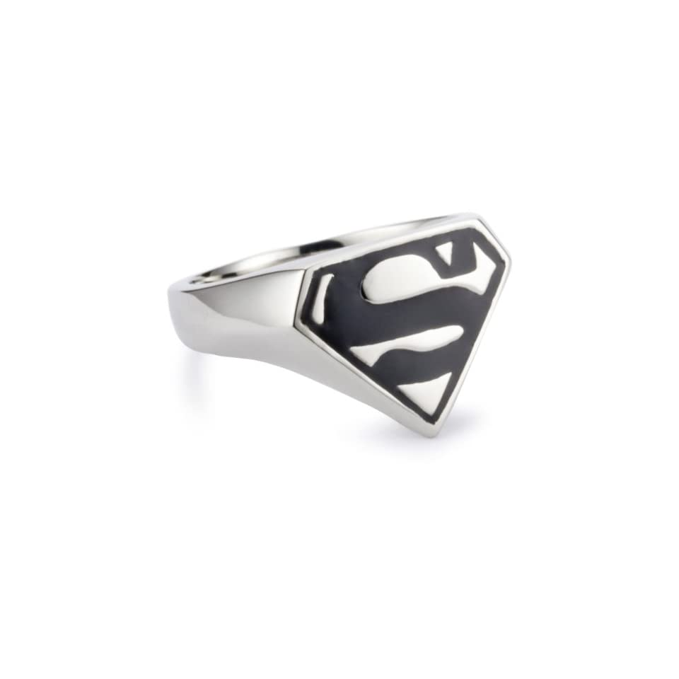 DC Comics Superman Mens Stainless Steel Ring, Size 10