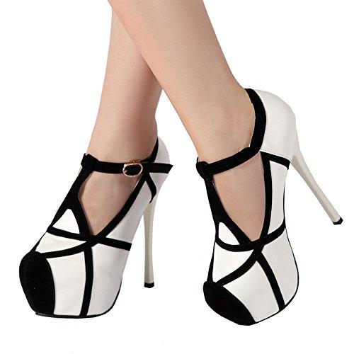 White Stiletto High Heel Shoes - getmorebeauty Women's White Black Stiletto Sexy Shoes High Heels (7.5 B(M) US, White)