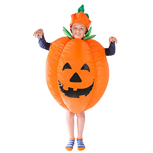 Scary Pumpkin Costumes - Bodysocks Kids Inflatable Pumpkin Fancy Dress
