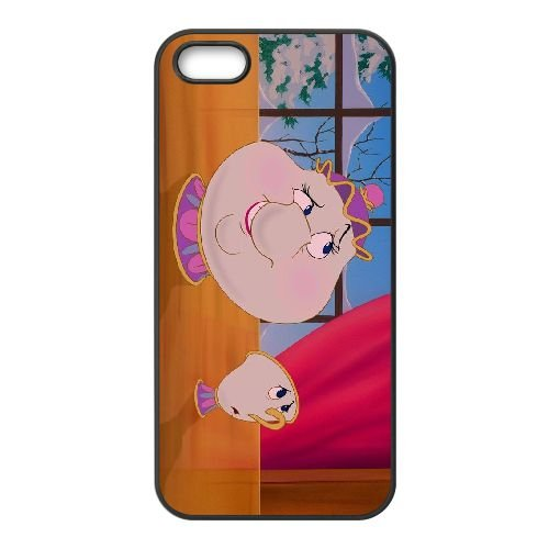 Beauty And The Beast Mrs Potts G7I08Q6UW coque iPhone 4 4s case coque cover black Y65375