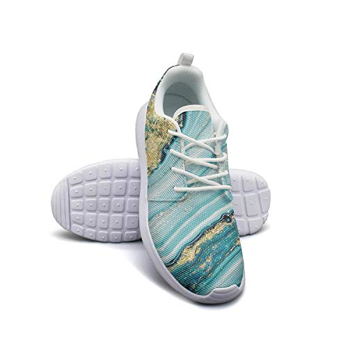 Man's Sneakers Boho Beautiful Natural Marbleized Cool Rubber Sole Running Shoes