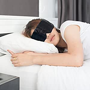Silky Sleep Mask Sleeping Blindfold by The Eliminator Sleep Aid Series Travel Mask Beauty for Men and Women