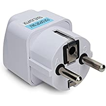 Universal AU US UK to EU Europe Plug AC 250V Power Travel Adapter // Au universal nos Reino Unido a Europa UE enchufe adaptador de viaje CA 250v