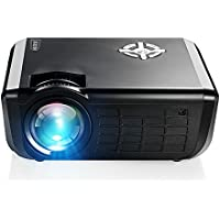AUN M17 HD LED Projector, 1280x720 Resolution, 2000 Lumens, Smallest 720P Multimedia Video Projector, Support 1080p HDMI USB SD Card AV for Home Theater