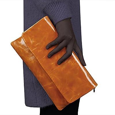 Jack&Chris New Women Leather Envelop Clutch Shoulder Tote Bag Handbag Purse,WBGT035