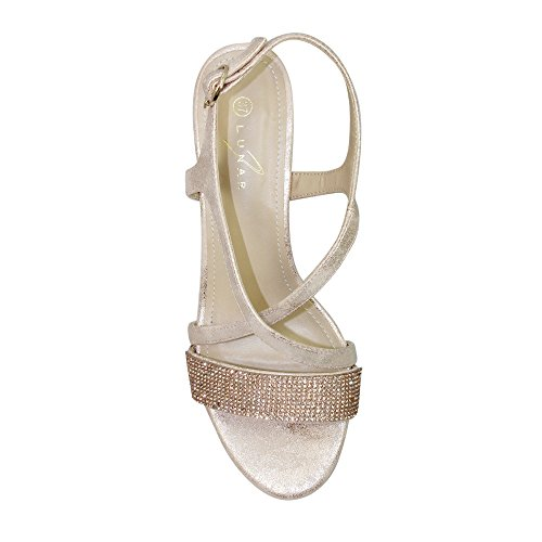 Lunar Women's Monterey Strap Sandal in Rose Gold Or Silver Sizes 3,4,5,6,7,8,36,37,38,39,40,41 Rose Gold