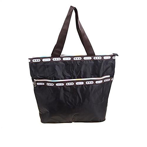 Sports Life Ladies Zippered Light Shoulder Shopping Tote Bag Handbag Beach Satchel