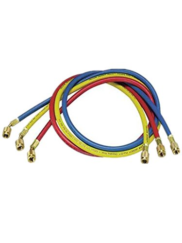 Price comparison product image Yellow Jacket Manifold Hose Set,  60 in,  Red,  Yellow,  Blue