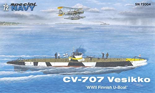 Special Hobby 1/72 Scale CV 707 Vesikko `WWII Finnish U-Boat`- Plastic Model Watercraft Building Kit  100-SN72004