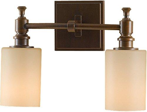 Feiss VS16102-HTBZ Sullivan Glass Wall Vanity Bath Lighting, Bronze, 2-Light (13
