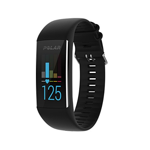 Polar A370 Fitness Tracker with 24/7 Wrist Based HR, Black,...