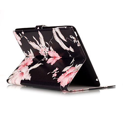 iPad 2/3/4 Case, Dteck(TM) Slim Flip PU Leather Wallet Case with Card Slots/Money Pouch Kickstand iPad Case Magnetic Closure Shell Full Body Protective Case Cover for Apple iPad 2 3 4,Pink Floral by Dteck (Image #5)