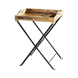 Priti Industrial Coffee Table Nesting Table Bedside Table End Table Wooden Iron Table