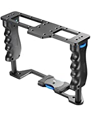 """Neewer® Pro Aluminum Camera Video Cage for Canon, Nikon, Pentax, Sony, Olympus, and Other SLR DSLR Camera Professional Photograph with Universal Hot Shoe with 1/4"""" Thread"""