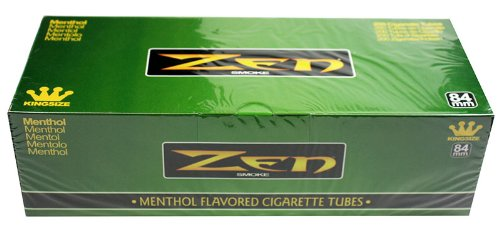(50) Fifty Cartons of Zen King Size Menthol Flavored Cigarette Tubes (200ct) Full Case!