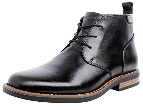 Jousen Men's Chukka Classic Simple Style Dress Boots (10, Black-2)