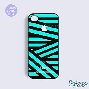 iPhone 5 5s Case - White Green Zebra Stripes iPhone Cover