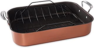 product image for Nordic Ware Turkey Roaster with Rack, Copper