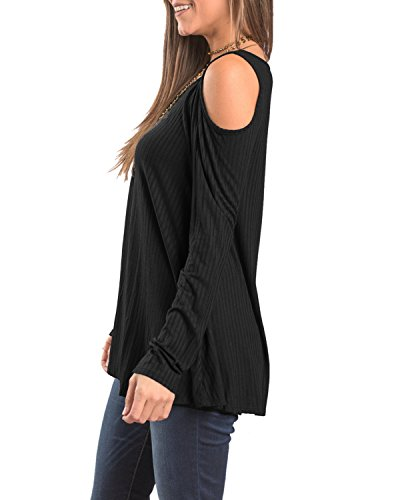 Rayas larga algod de mujer Camiseta de manga para Aeneontrue qRAtYw