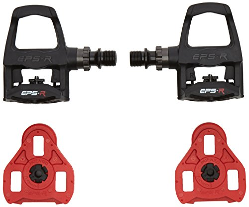 - Exustar PR100 Thermoplastic Look Keo Compatible Bike Pedals with Cleats - Black
